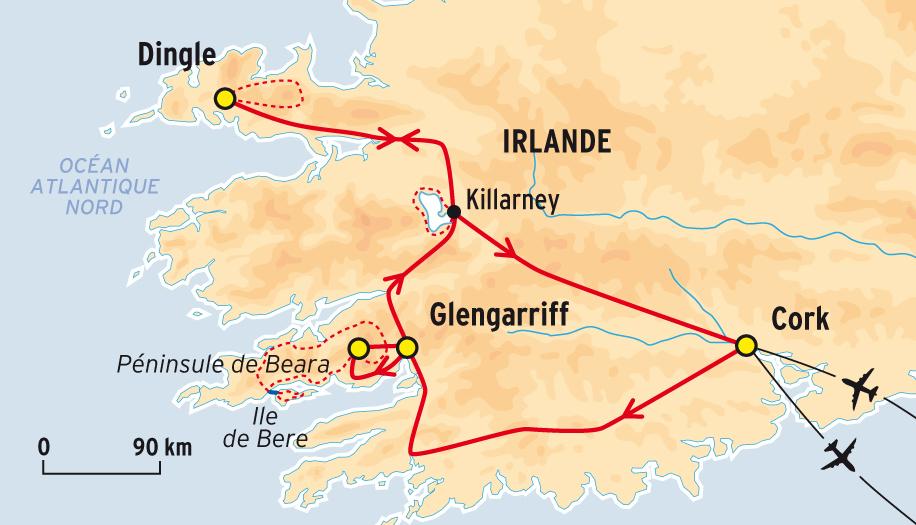 Irlande sud ouest carte - Office du tourisme irlandaise a paris ...