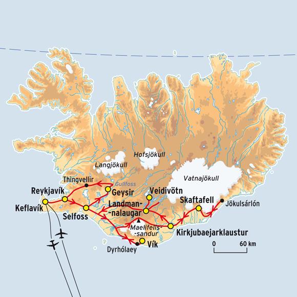 Carte routiere islande - Comptoir electrique du sud ouest ...