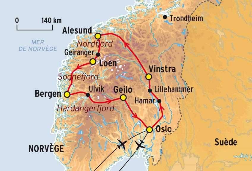 Norv ge population carte - Office de tourisme norvege ...