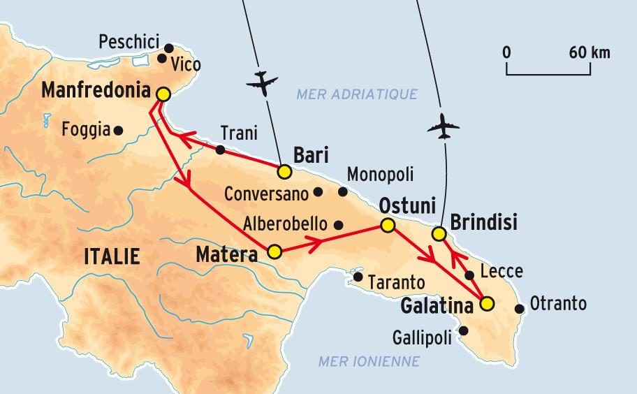 Carte d italie les pouilles   passions photos