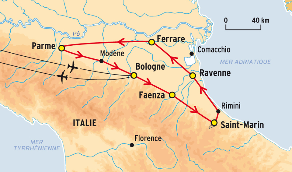 ferrare carte italie •▷ Voyages   Cartes